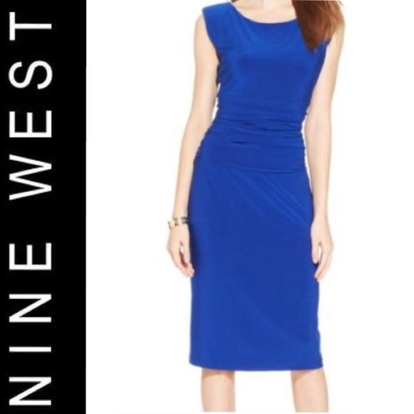 7fe4339f4db ⭐️Final Clearance⭐️Nine West Regal blue dress.
